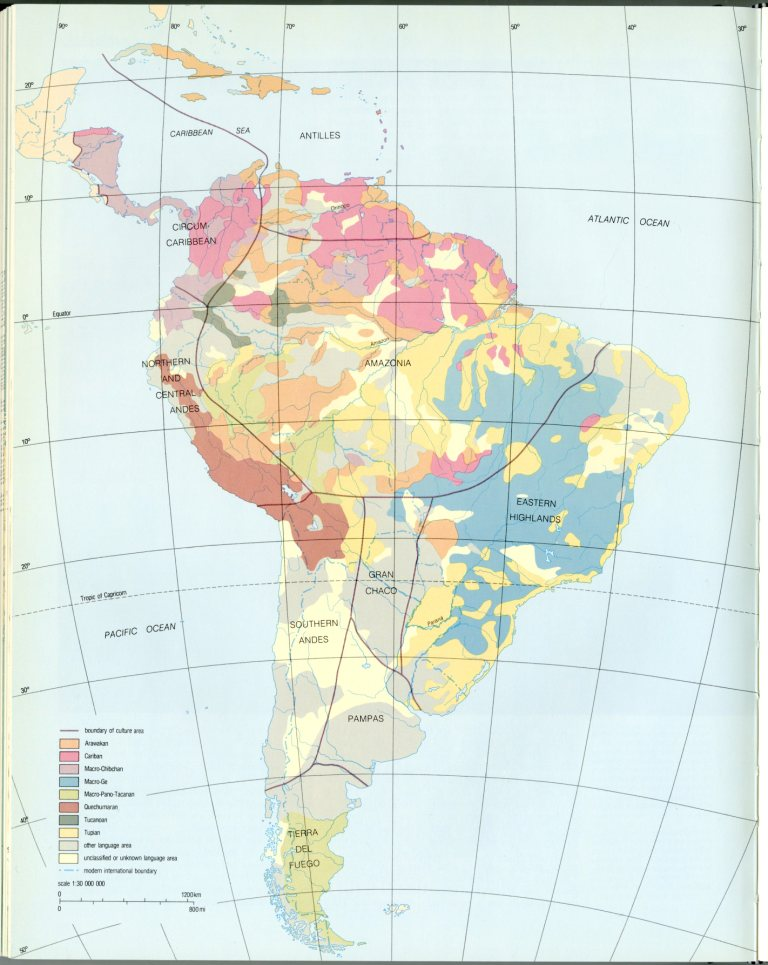 Indigenous Languages Of South America In Pre Columbian Times
