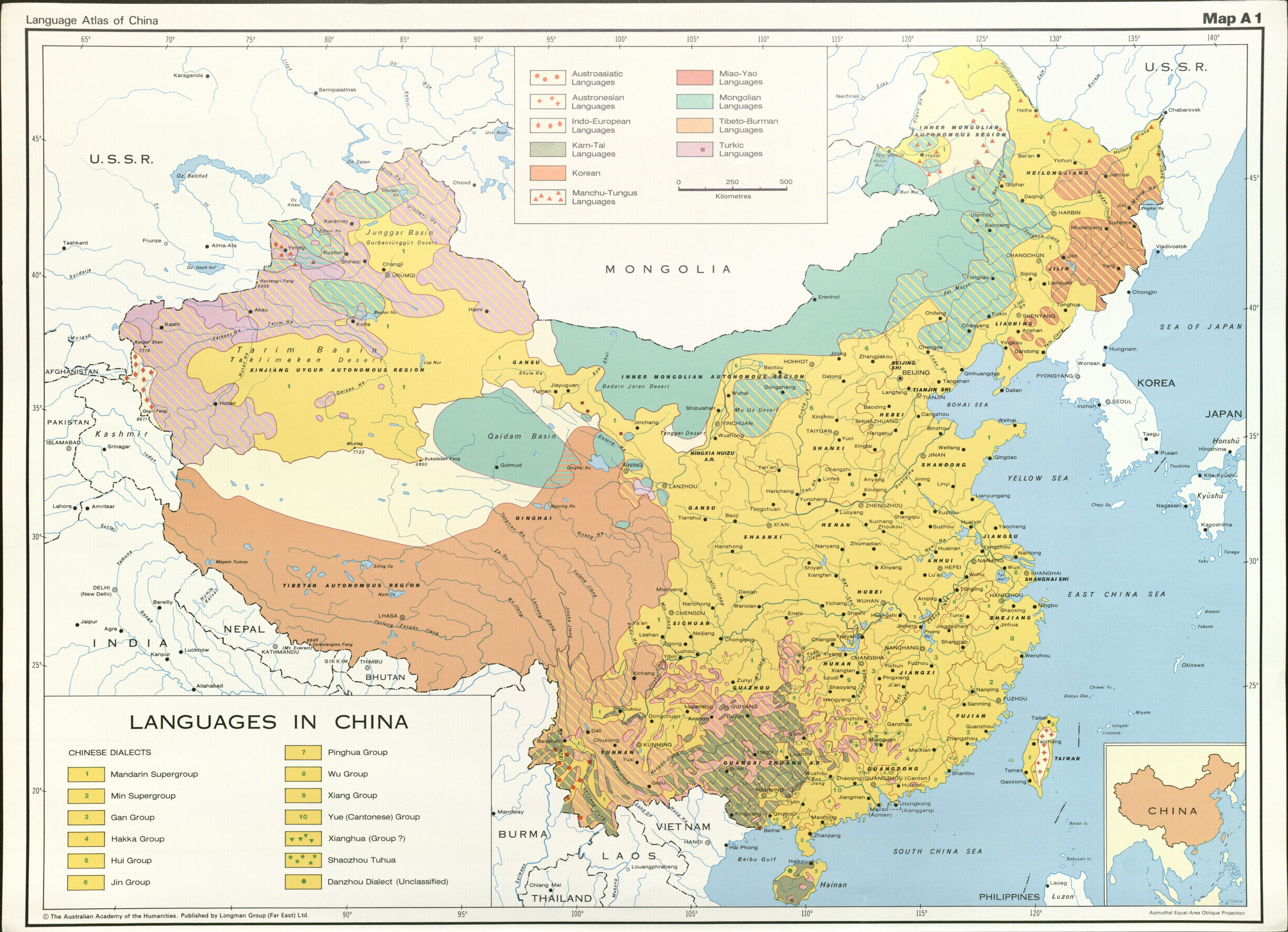 Language Atlas of China Languages in China