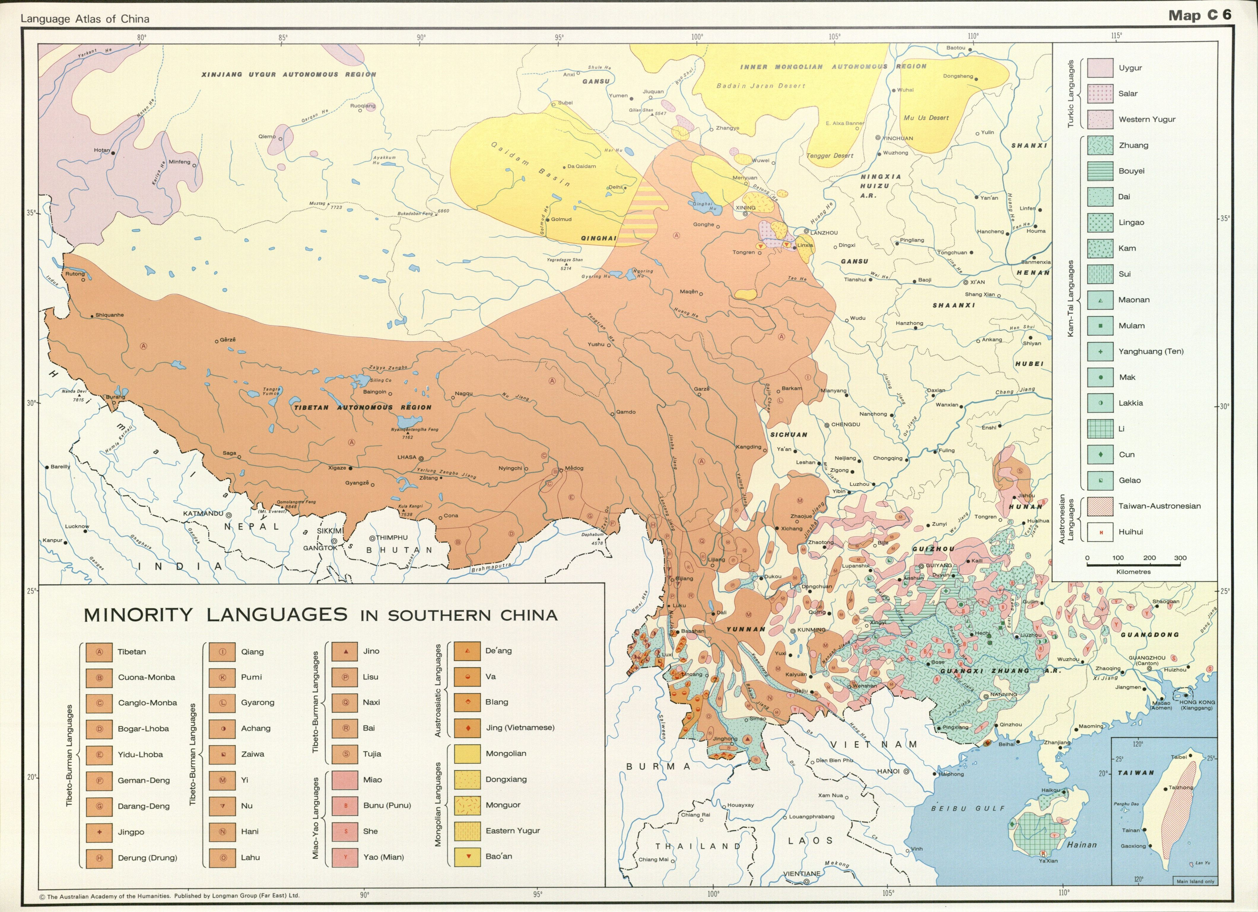 Language Atlas of China Minority Languages in Southern China