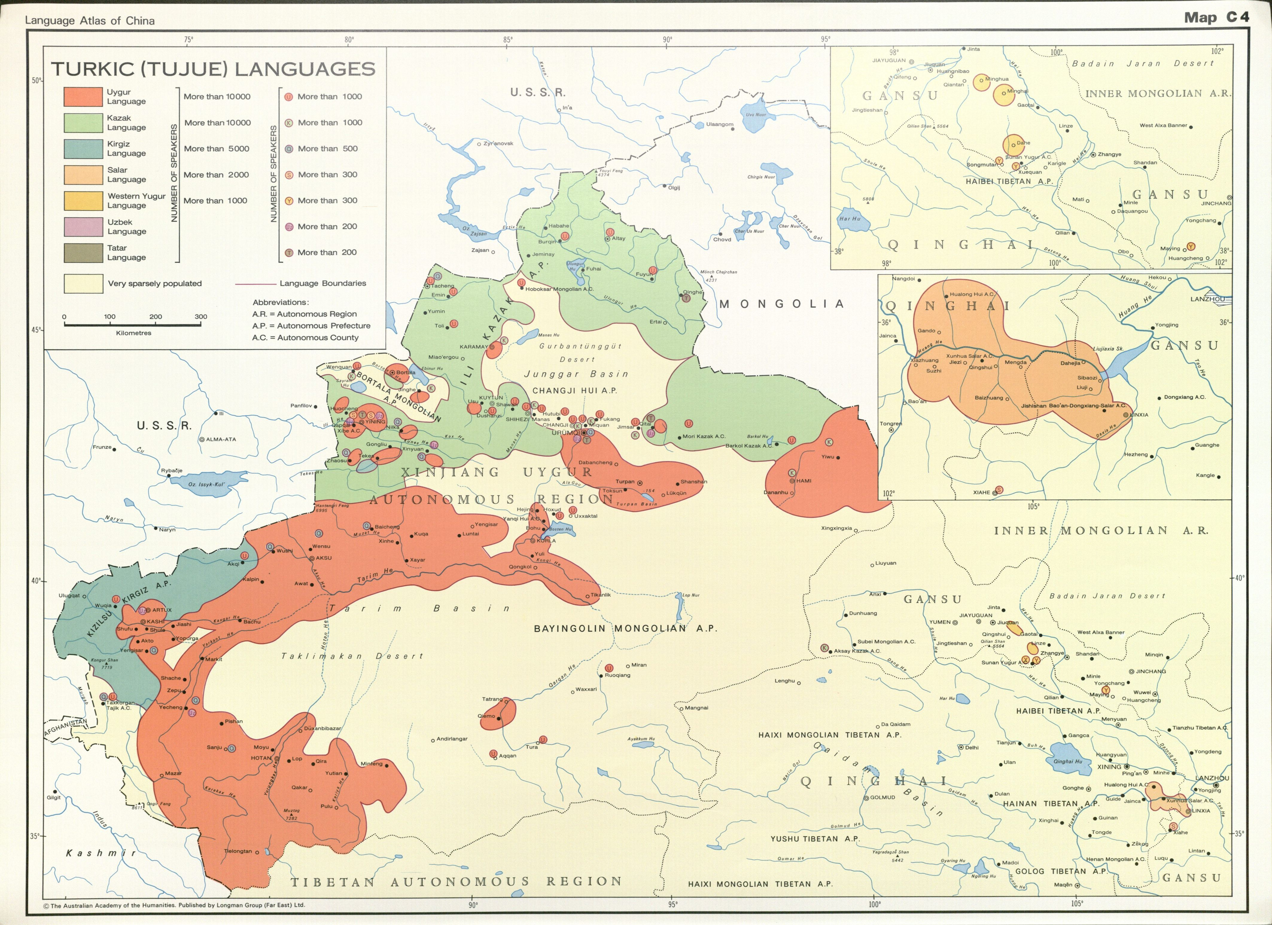 Language Atlas of China Turkic Tujue Languages